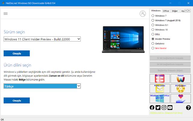 Windows ürün dilini seçin