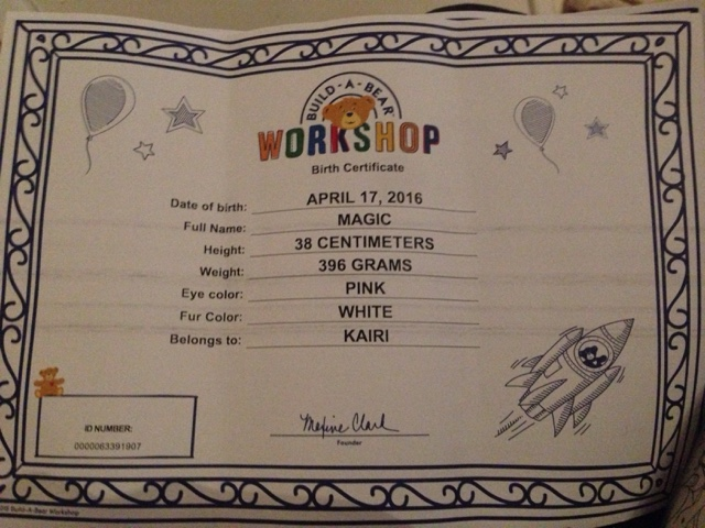 Planning a 3rd birthday party build a bear workshop review mummies waiting for Build a bear birth certificates