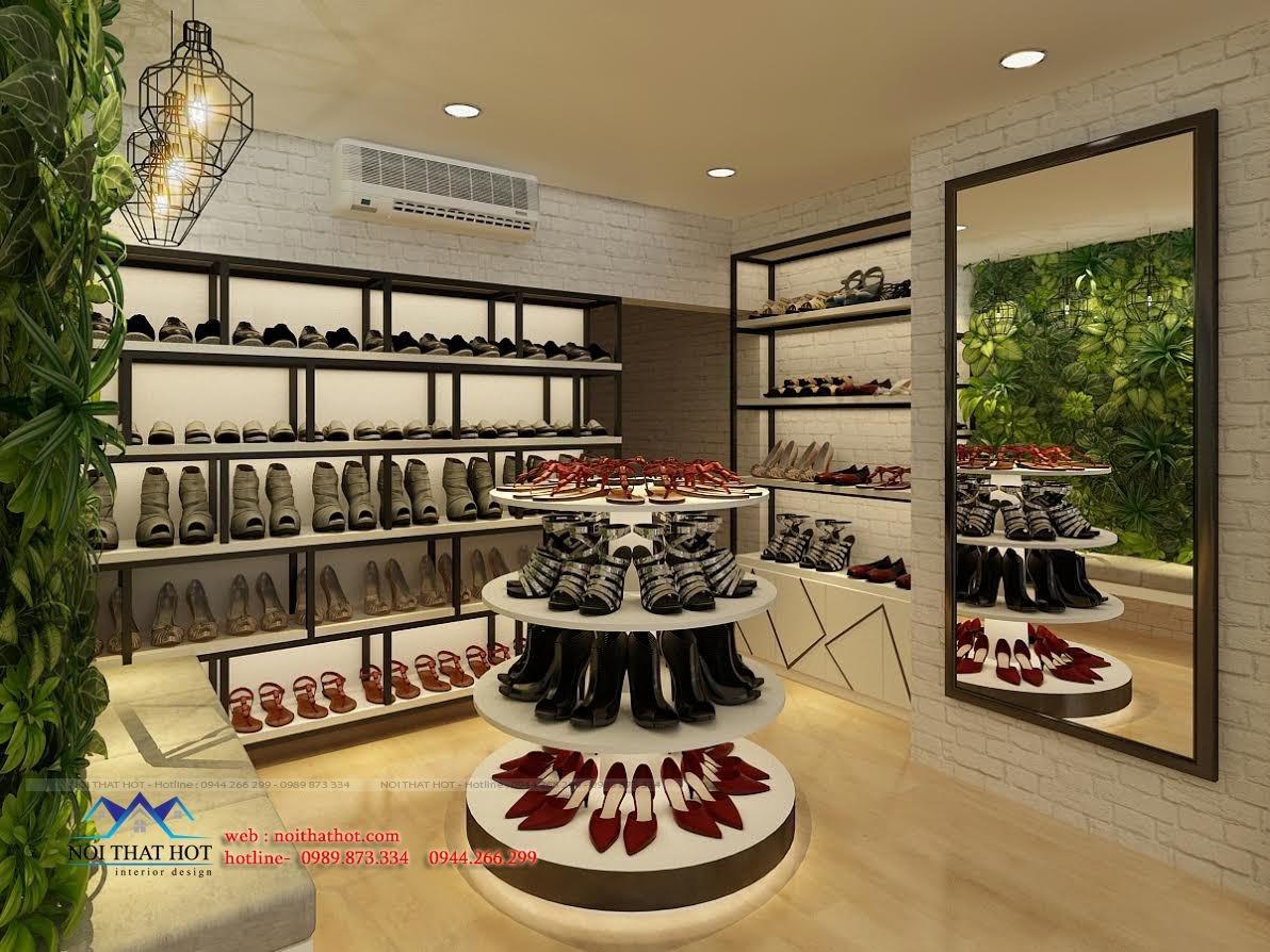 thiết kế shop giày dép tại thái thịnh - hà nội