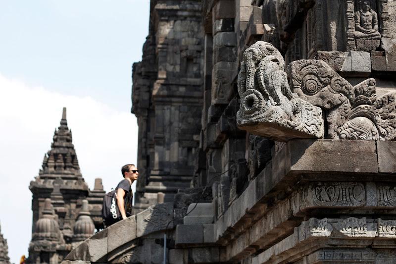 Cornisas de los templos de Prambanan