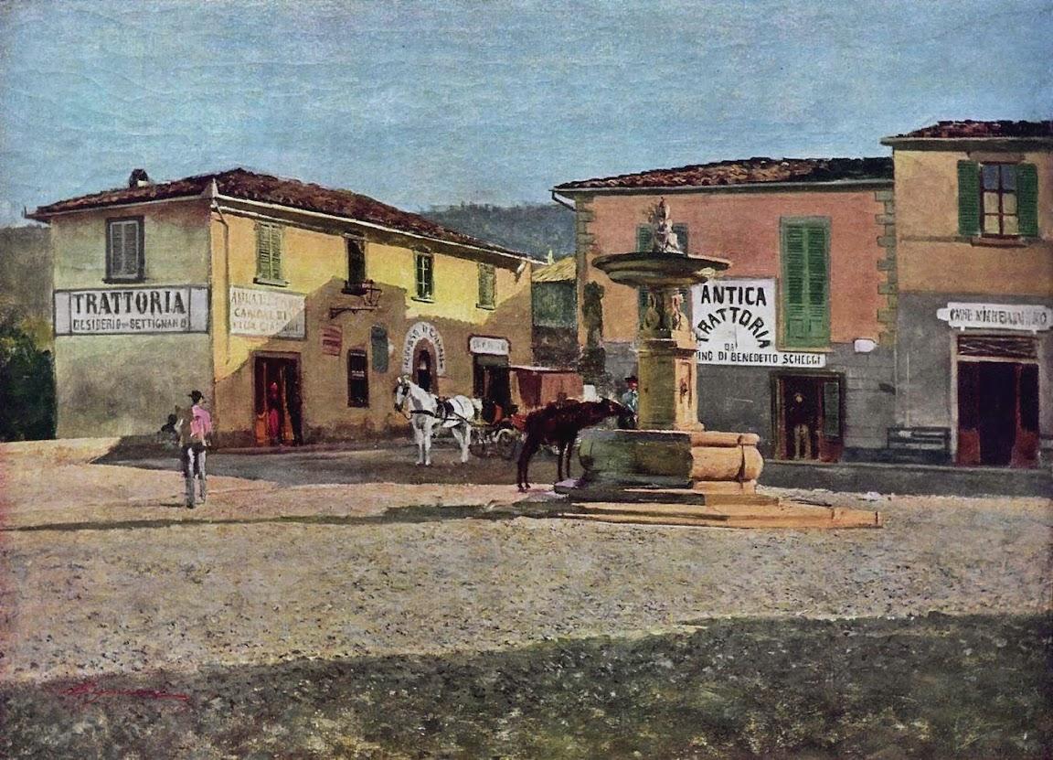 Telemaco Signorini - Piazzetta a Settignano