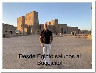 SALUDITO DESDE EGIPTO
