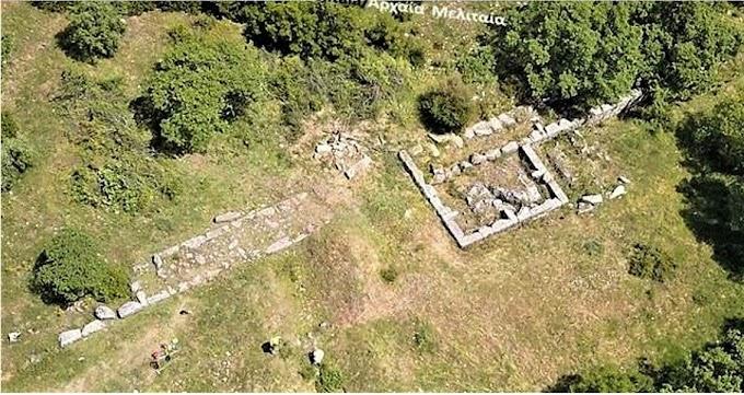 Αρχαία Μελιταία : Περί του οχυρωματικού περιβόλου της ακρόπολης της αρχαίας Μελιταίας.