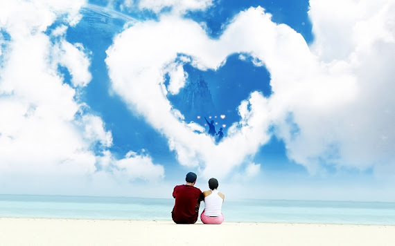 Valentinovo besplatne ljubavne slike čestitke pozadine za desktop 1680x1050 free download Valentines day 14 veljača plaža
