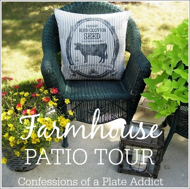 CONFESSIONS OF A PLATE ADDICT Farmhouse Patio Tour