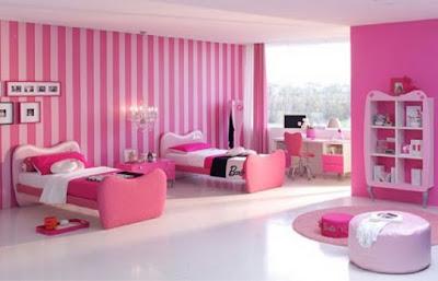غرف نوم اطفال بنات باللون الزهري جميلة جدا | عائلتي