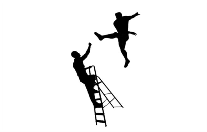 Chutando a escada