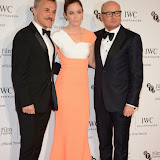 WWW.ENTSIMAGES.COM -    Christoph Waltz, Emily Blunt and George Kern  arriving at       IWC Schaffhausen and BFI London Film Festival - private dinner at Battersea Evolution, London October 7th 2014Swiss watch brand and British Film Institute host party to celebrate their three year partnership.                                                Photo Mobis Photos/OIC 0203 174 1069