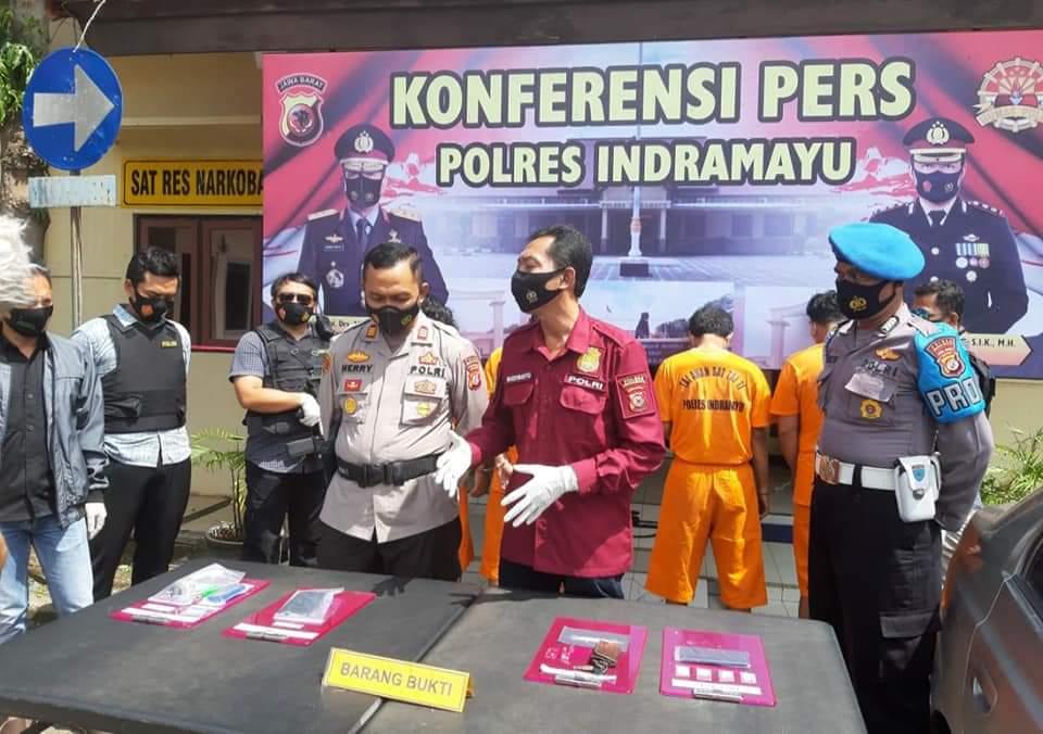 Kasatres Narkoba Polres Indramayu Berhasil Mengungkap 4 Pengedar Narkoba
