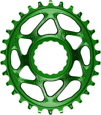 Absolute Black Oval Narrow-Wide Direct Mount Chainring - CINCH Direct Mount, 3mm Offset, Colored  alternate image 6
