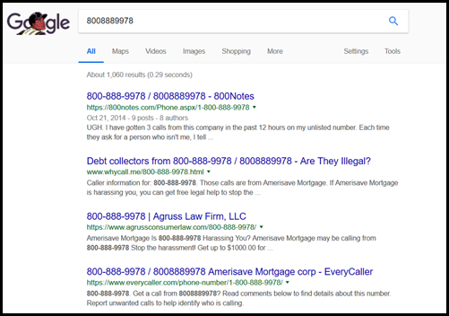 Google Phone Number Search