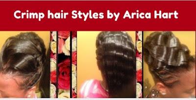 Crimped hairstyles for black hair, black hair crimp styles, black hairstyles