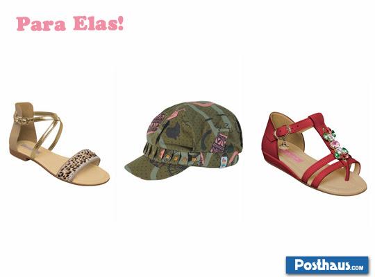 Sandálias para meninas