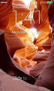 Antelope Canyon Lock Screen - náhled