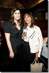 HOLLYWOOD, CA - MARCH 30: Rodarte Co-Founder Laura Mulleavy (L) and actor Rashida Jones attend the Coach & Rodarte celebration for their Spring 2017 Collaboration at Musso & Frank on March 30, 2017 in Hollywood, California  (Photo by Donato Sardella/Getty Images for Coach)