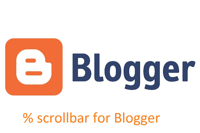 Adding scrollbar percentage to your Blogger site