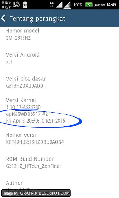 kernel info kst samsung galaxy v