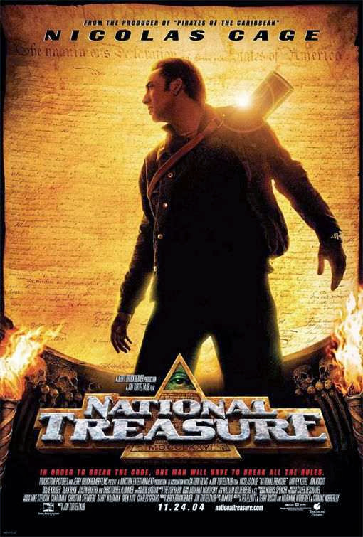 Poster Of National Treasure (2004) Full Movie Hindi Dubbed Free Download Watch Online At Alldownloads4u.Com