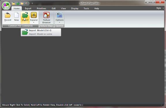 เทคนิคการดึงโมเดลจากในเกมมาแปลงเป็นไฟล์ .skp เพื่อเก็บเอาไว้ใช้งาน 3dsim01