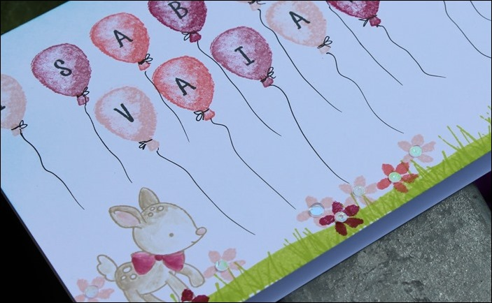 Baby Girl Card Glückwunschkarte Geburt 01