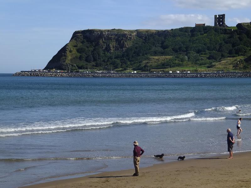 Scarborough castle cliff