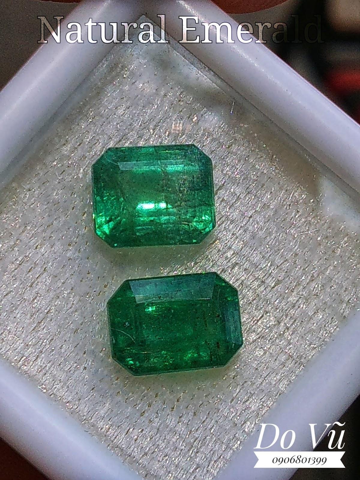 Đá quý Ngọc Lục Bảo thiên nhiên, Natural Emerald chất ngọc kính xanh chuẩn lửa mạnh ( 12/04/20, 05 )