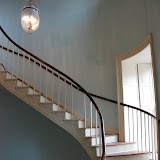 Mansion's Spiral Stair leading to the Main Floor
