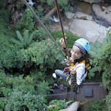 Abseiling  from eagletrack zipline
