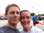 Post-race smiles after our six minute (Mike) and eight minute (me) 10 mile PRs!
