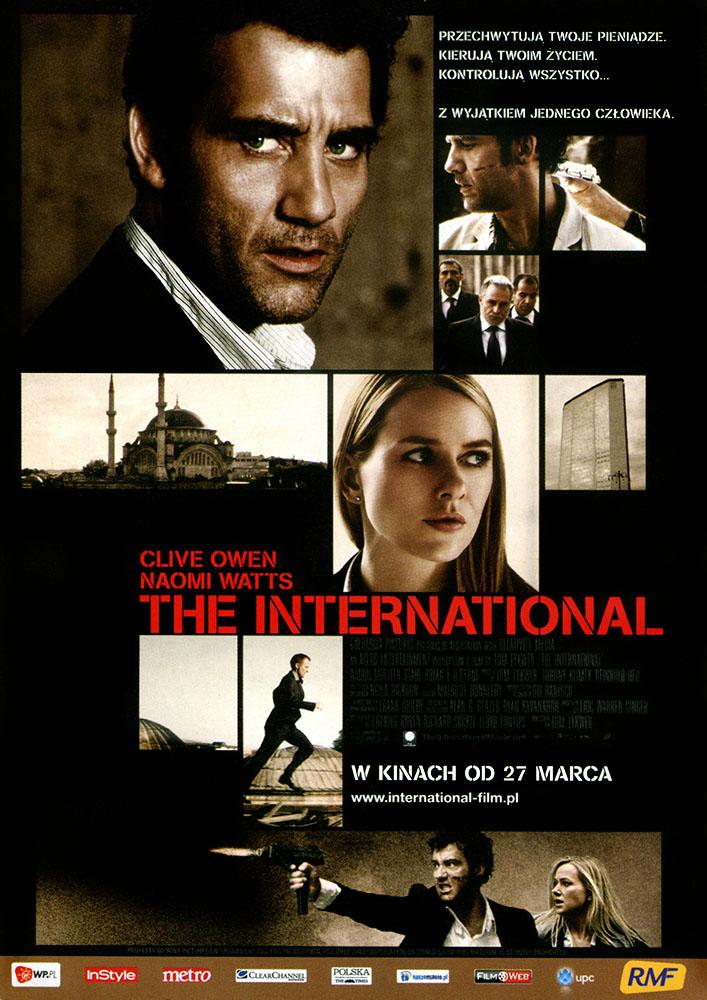 Ulotka filmu 'The International (przód)'