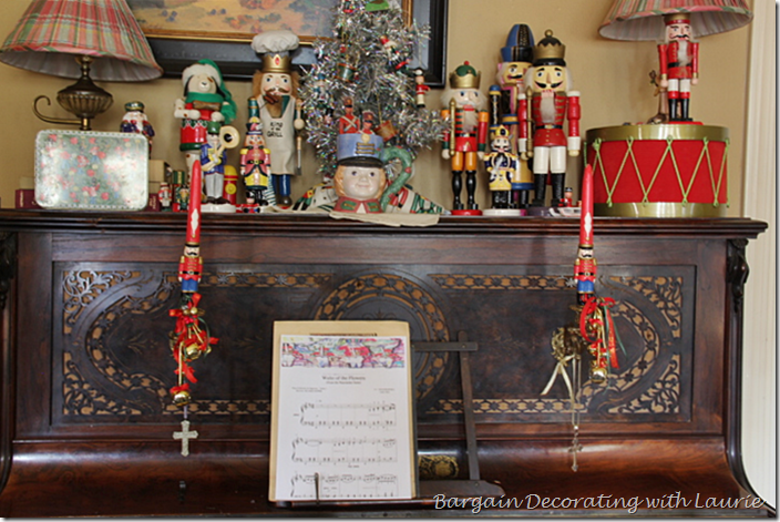 Nutcracker Decor on the Piano