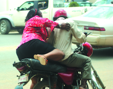 #Extralarge: See Disturbing Video Of A Lady Being Harassed On A Bike By Different Men