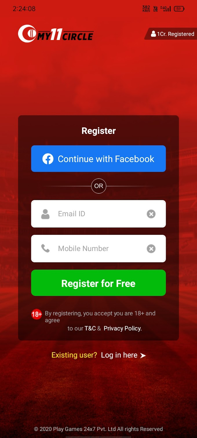 My11Circle Refer & Earn Offer per number 51 rs free
