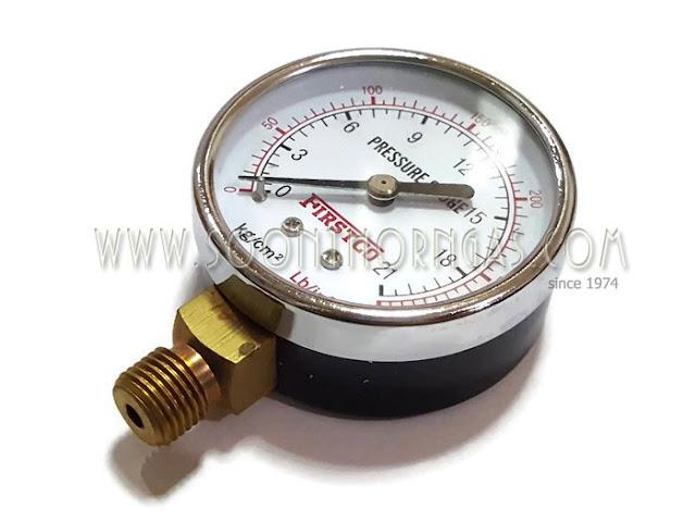 เกจ์วัดแรงดันแก๊ส สำหรับแรงดันสูง 21 kg
