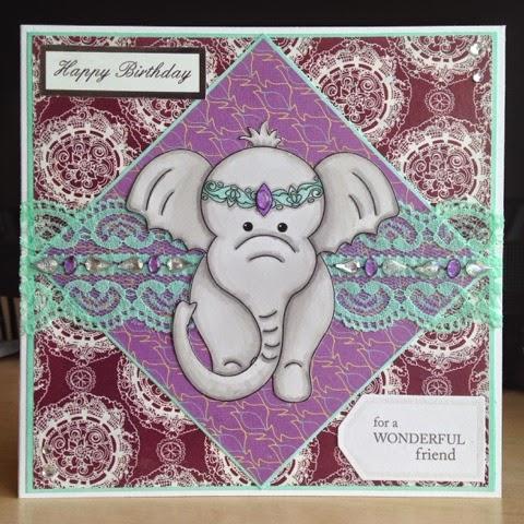 Little Lucys Handmade Cards Indian Elephant Birthday Card – Indian Birthday Cards
