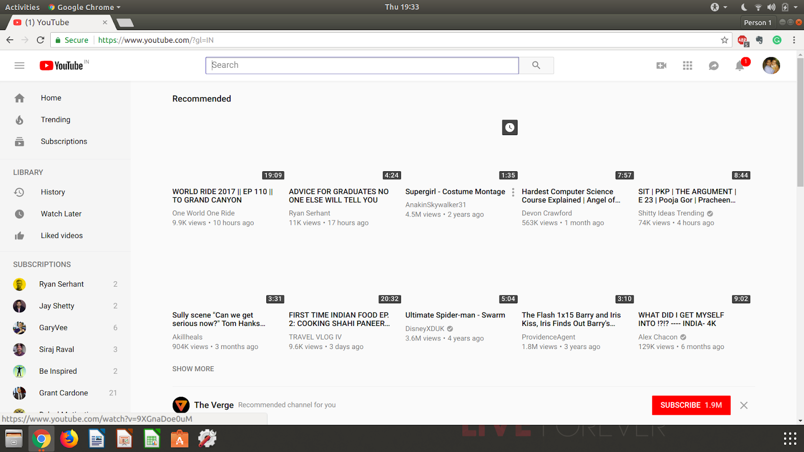 Ubuntu 18 04 Youtube Video Thumbnail Not Visible in any