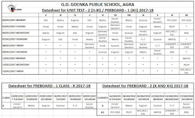 NOTICES, SMS & CIRCULARS - Ongoing Events at GD Goenka Agra