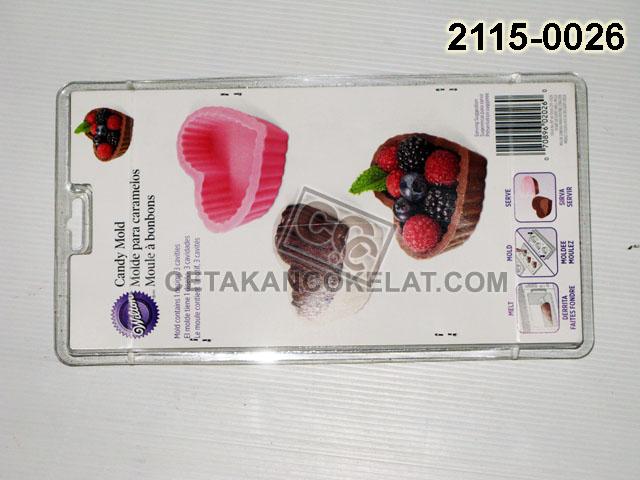 Cetakan Coklat Wilton Love Tray 2115-0026 Heart Desert S cokelat