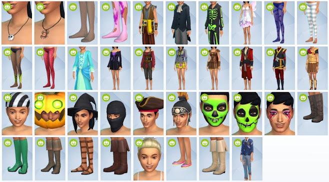 De Sims 4 Griezelige Accessoires nieuwe CAS-items