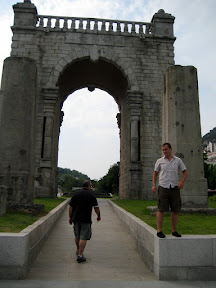 trampsing around the monumental arch of Korean Independance From The Occupiers