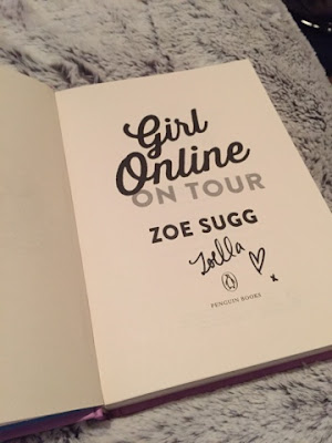 Girl Online on Tour by Zoe Sugg signed copy