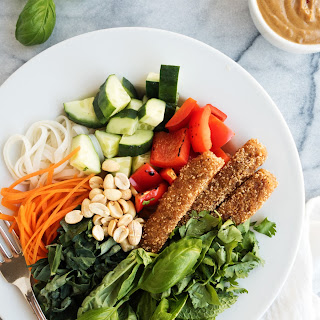 Thai Crusted Fish Stick Noodle Bowls.