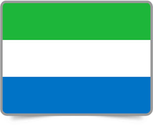 Sierra Leonean framed flag icons with box shadow