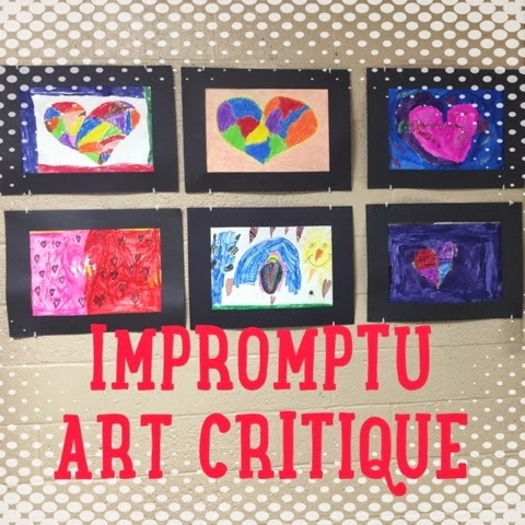 Impromptu Art Critique - Blog post by Kelsey Fortune: Art Teacher | kelseyfortune.blogspot.com