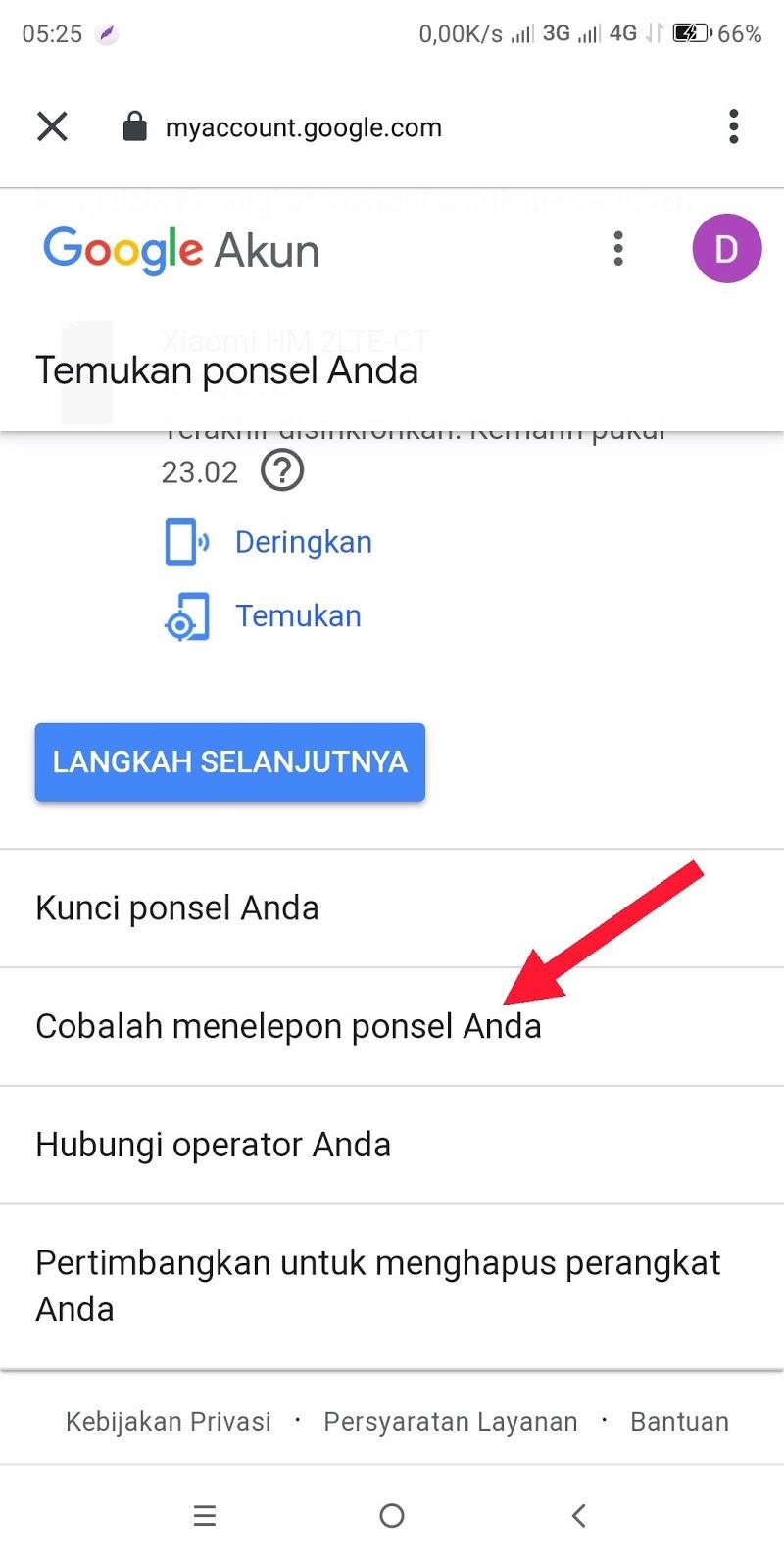 cara melacak hp hilang dengan gmail