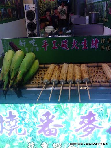 臺北景美夜市-東麥局燒番麥-手工炭火烤玉米