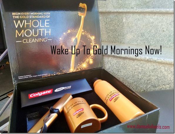 wake up gold mornings colgate