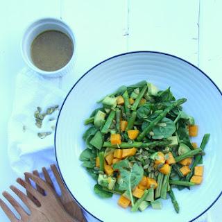 Pumpkin Avocado and Spinach Salad