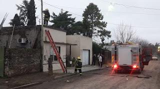 Incendio en Rawson foto de Radio Sobrenivel