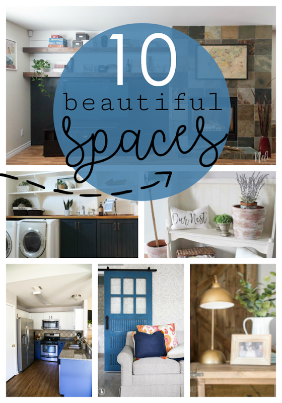 10 Beautiful Spaces at GingerSnapCrafts.com #forthehome #homedecor